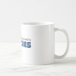 Qué necesito es subordinados taza