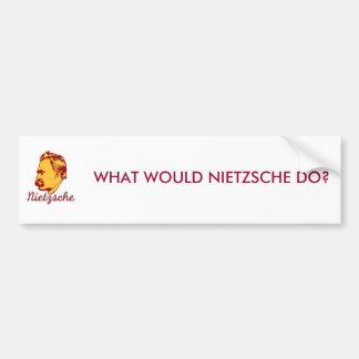 ¿Qué Nietzsche haría? Pegatina para el parachoques Pegatina De Parachoque
