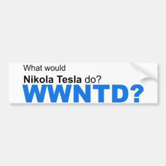 ¿Qué Nikola Tesla haría? Pegatina Para Auto