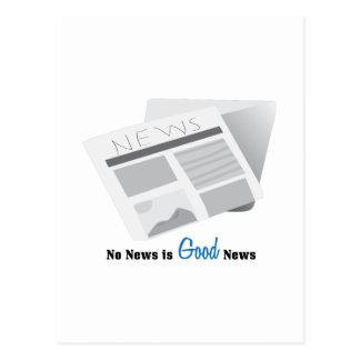 Que no haya noticias es buena noticia tarjetas postales