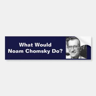 ¿Qué Noam Chomsky haría? Pegatina Para Auto