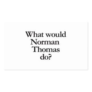 qué normando Thomas haría Tarjetas De Visita