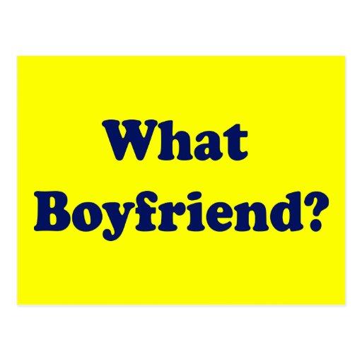 ¿Qué novio? Tarjeta Postal