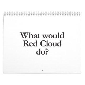 qué nube roja calendario