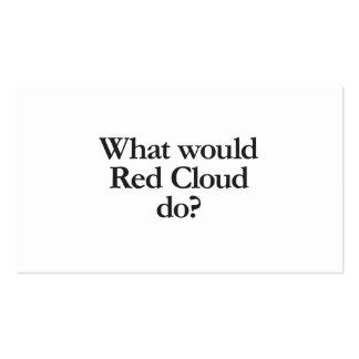 qué nube roja tarjetas de visita