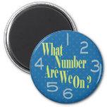 qué número es nosotros en azul con números iman para frigorífico