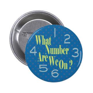 qué número es nosotros en azul con números pin redondo de 2 pulgadas