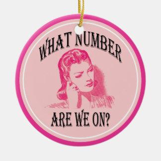 ¿qué número estamos encendido? ornamento de navidad