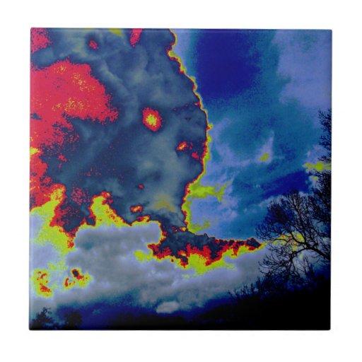 ¿Qué oculta en las nubes? Azulejos