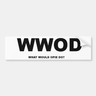 ¿Qué Opie haría? Pegatina Para Auto
