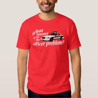 ¿Qué parece ser el problema del oficial? Camiseta Playera