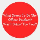 ¿Qué parece ser el problema del oficial? Era Dri… Pegatinas