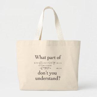 Qué parte… bolsa tela grande