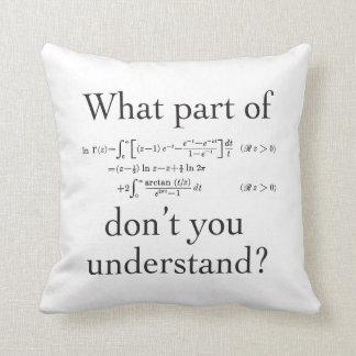 Qué parte… almohadas
