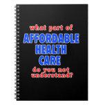 Qué parte de atención sanitaria asequible le hace  cuaderno