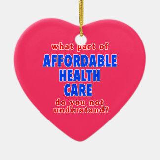 Qué parte de atención sanitaria asequible le hace adorno de cerámica en forma de corazón