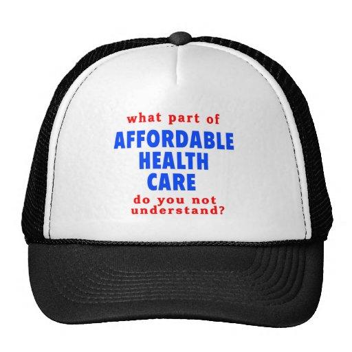 Qué parte de atención sanitaria asequible le hace  gorro de camionero
