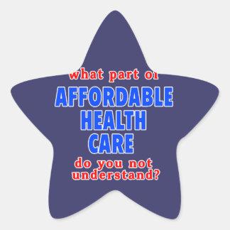 Qué parte de atención sanitaria asequible le hace pegatinas forma de estrella
