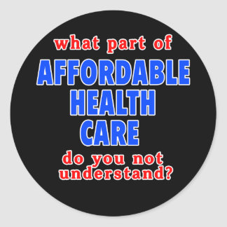 Qué parte de atención sanitaria asequible le hace pegatina redonda
