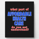 Qué parte de atención sanitaria asequible le hace  placas