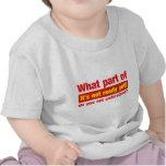 """Qué parte de """"ella no está lista todavía"""" hágale camisetas"""