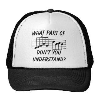 Qué parte de la notación musical usted no entiende gorro