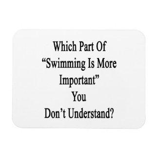 Qué parte de natación es más importante usted no h iman
