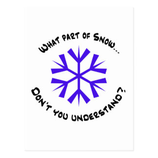 ¿Qué parte de nieve…? Tarjetas Postales