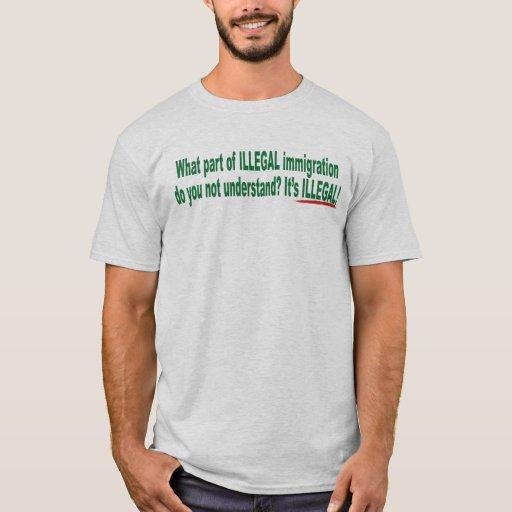 Qué pieza de la camiseta de la inmigración ilegal