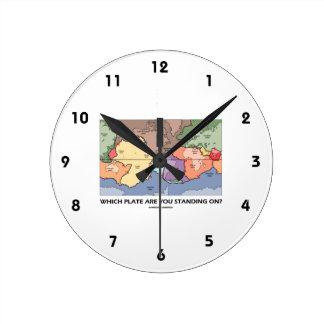 ¿Qué placa usted se está colocando encendido? Reloj Redondo Mediano