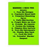 ¡Qué PMS significa! Tarjeta