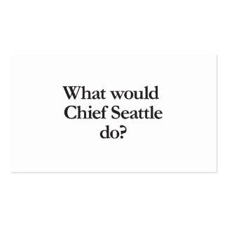 qué principal Seattle haría Tarjetas De Visita
