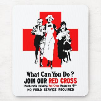 ¿Qué puede usted hacer? Cruz Roja Tapete De Ratones