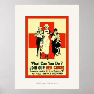 ¿Qué puede usted hacer? ~ WW1 de la enfermera del  Poster