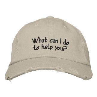 ¿Qué puedo hacer para ayudarle? Gorra de béisbol