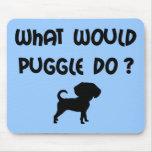 ¿Qué Puggle haría? Alfombrillas De Ratones