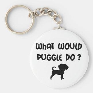 ¿Qué Puggle haría? Llavero Redondo Tipo Pin