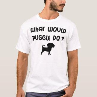 ¿Qué Puggle haría? Playera