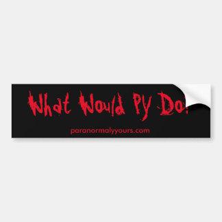 ¿Qué PY haría? Pegatina para el parachoques Pegatina Para Auto