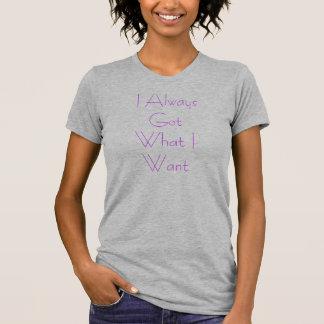 Qué quiero camiseta