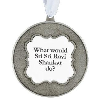 qué ravi del sri del sri shankar haría adorno de navidad festoneado de peltre
