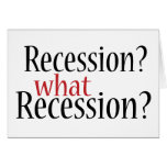 ¿Qué recesión? Felicitacion