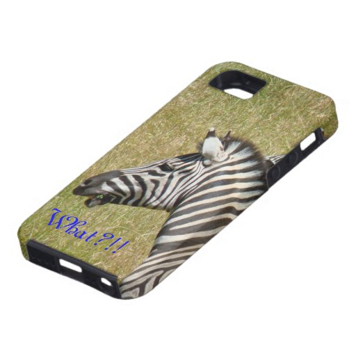 ¡Qué?! safari África de la fauna de la cebra de iPhone 5 Fundas