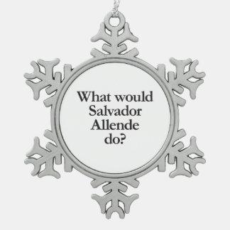 qué Salvador Allende haría Adorno De Peltre En Forma De Copo De Nieve
