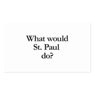 qué San Pablo haría Tarjetas De Visita