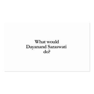 qué saraswati del dayanand haría tarjetas de visita