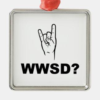 ¿Qué Satan haría?  ¿WWSD? Adorno De Reyes