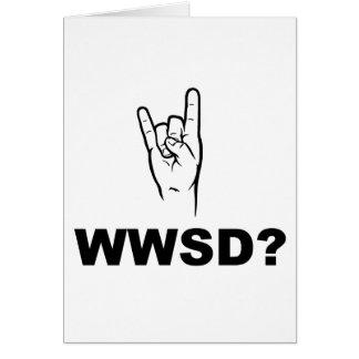 ¿Qué Satan haría?  ¿WWSD? Tarjeta De Felicitación