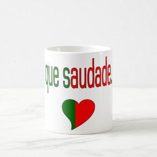 Que Saudade! Portugal Flag Colors Classic White Coffee Mug