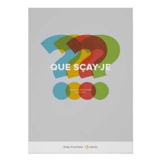 Que Scay-Je Posters